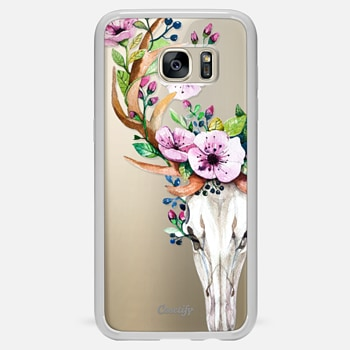 Samsung Galaxy S7 Edge เคส Deer Head Skull and Floral