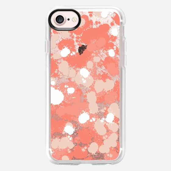 Coral and Splats - Classic Grip Case