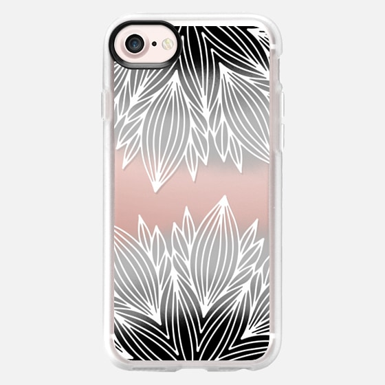 Ombre Gray Flower - Classic Grip Case