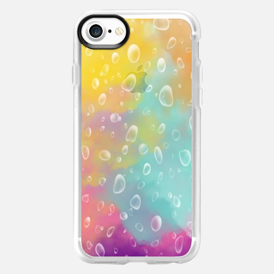Raindrops on Watercolors - Classic Grip Case