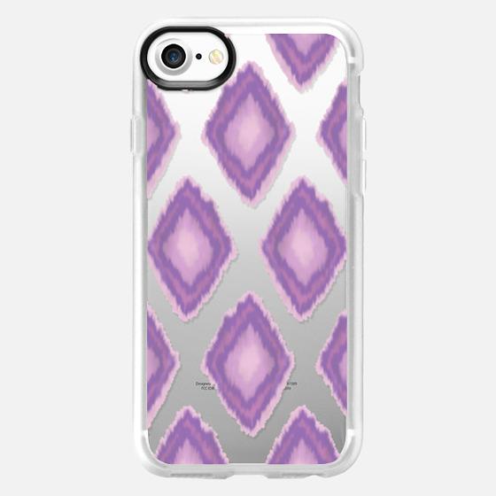 Large Purple Ikat - Classic Grip Case