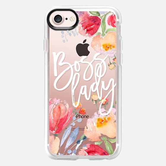 Boss Lady Watercolor Floral - Snap Case