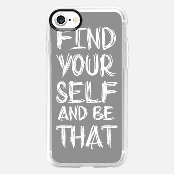 Find Yourself And Be That Gray and White - Classic Grip Case