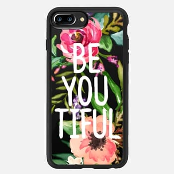 iPhone 7 Plus Case Be YOU Tiful Watercolor Floral