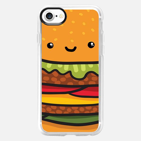 cute burger face - Wallet Case