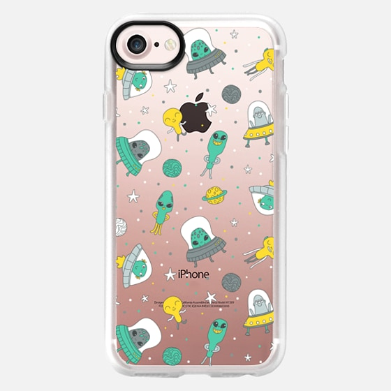 Cute aliens. UFO - Wallet Case
