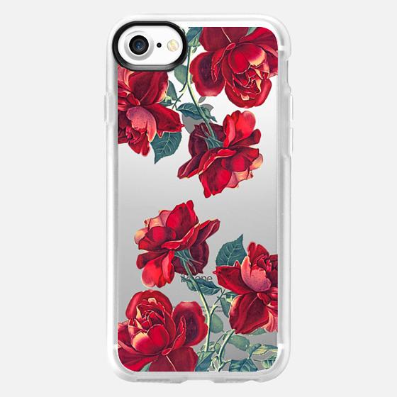 Red Roses (Transparent) - Wallet Case