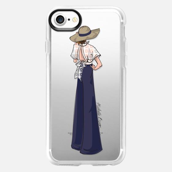 Lace Detail Fashion Illustration - Wallet Case