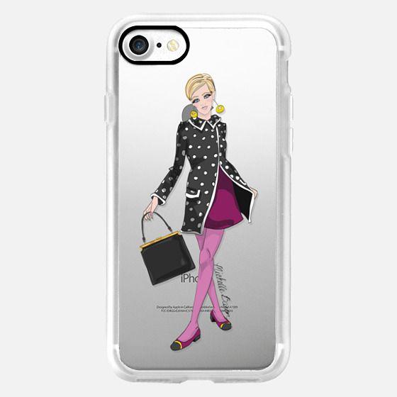 Twiggy Style Fashion Illustration Phone Case -