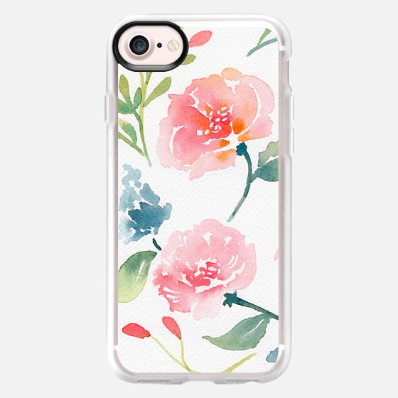 Natalie Malan Watercolor Bluebells and Peonies - Classic Grip Case