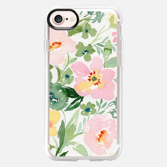 Natalie Malan Watercolor Anemone Roses - Snap Case