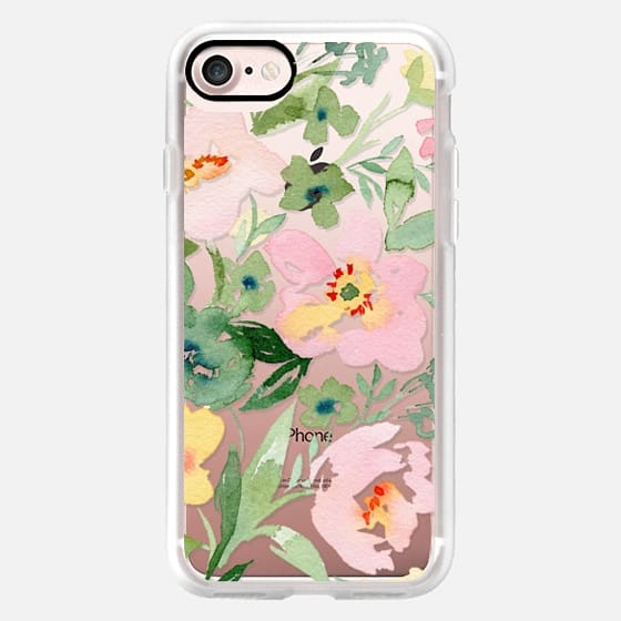 Natalie Malan Clear Watercolor Anemone Peony Clear - Snap Case