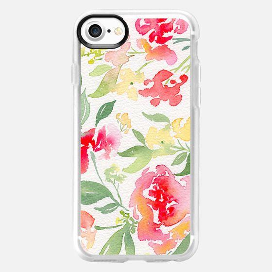 Natalie Malan Watercolor Hydrangeas and Peonies - Snap Case
