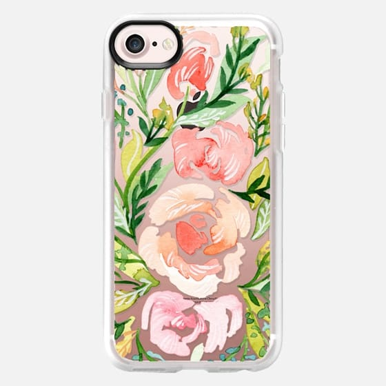 Natalie Malan Watercolor Clear Blush Roses - Classic Grip Case