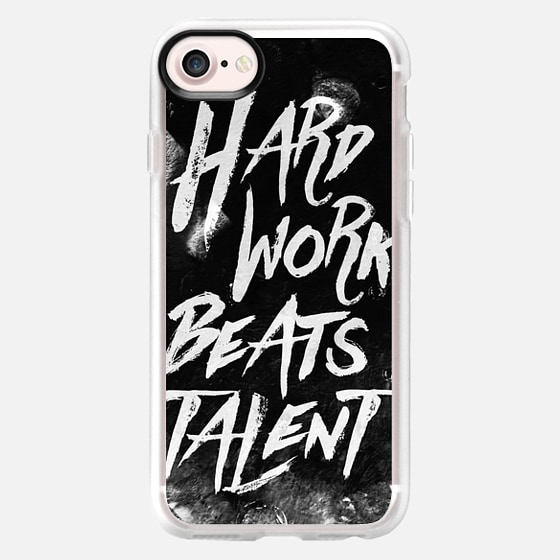 Inspirational typographic quote Hard Work Beats Talent - Wallet Case