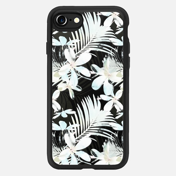 White Tropical flowers transparent -