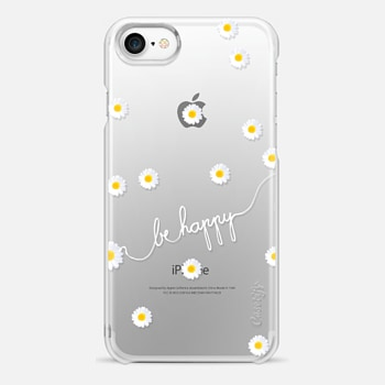 iPhone 7 Case HAPPY DAISY CRYSTAL CLEAR