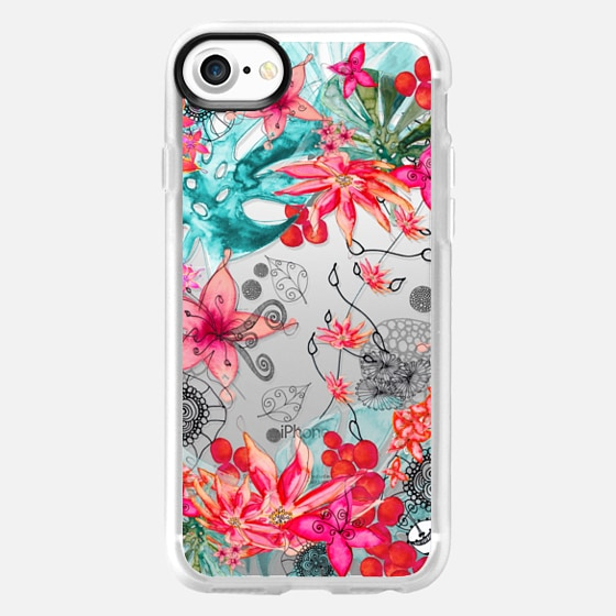 TROPICAL GARDEN HTC One M8 transparent case - Wallet Case