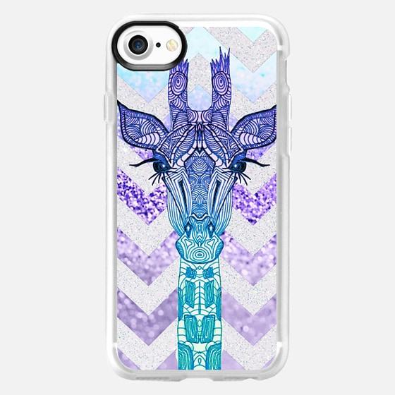 FUNKY GIRAFFE PURPLE TIFFANY iphone case - Wallet Case