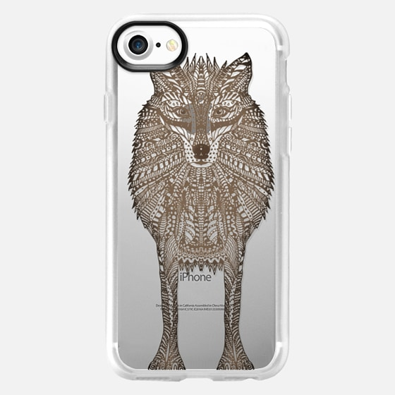 WOOD WOLF iphone case - Wallet Case