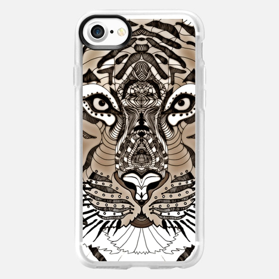 EYE OF THE TIGER on WOOD iphone case -