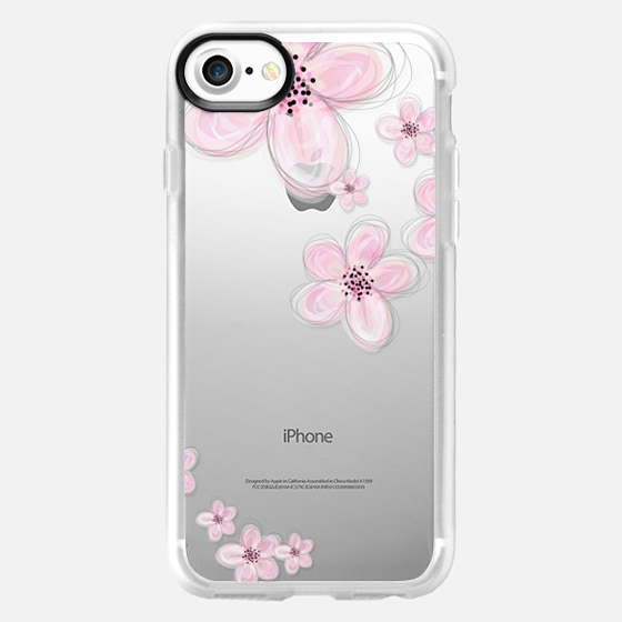 CHERRY BLOSSOM iPhone 6 Plus Crystal Clear Case - Wallet Case