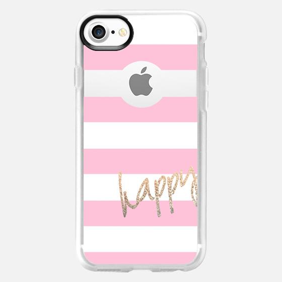 PRETTY HAPPY II Pink by Monika Strigel for iPhone 6 - Wallet Case