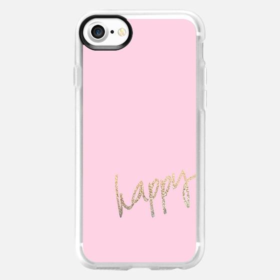HAPPY GOLD PINK by Monika Strigel iPhone 6 - Wallet Case