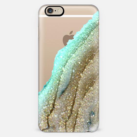 flawless aqua faux gold by monika strigel iphone 6 plus iphone 6 case by monika strigel casetify. Black Bedroom Furniture Sets. Home Design Ideas