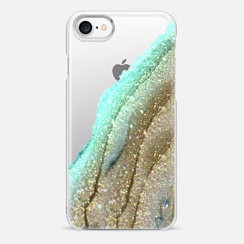 iPhone 7 Case FLAWLESS AQUA FAUX GOLD by Monika Strigel iPhone 6 plus