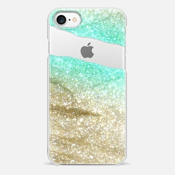 iPhone 7 Case LIMITLESS AQUA & GOLD by Monika Strigel iPhone 6 plus