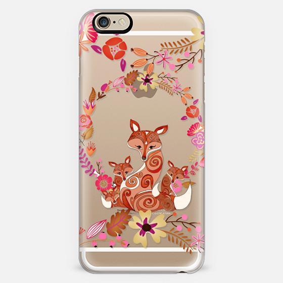 FOX & FLOWERS by Monika Strigel Crystal Clear iPhone 6 -