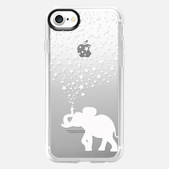 HAPPY ELEPHANT WHITE by Monika Strigel - Wallet Case