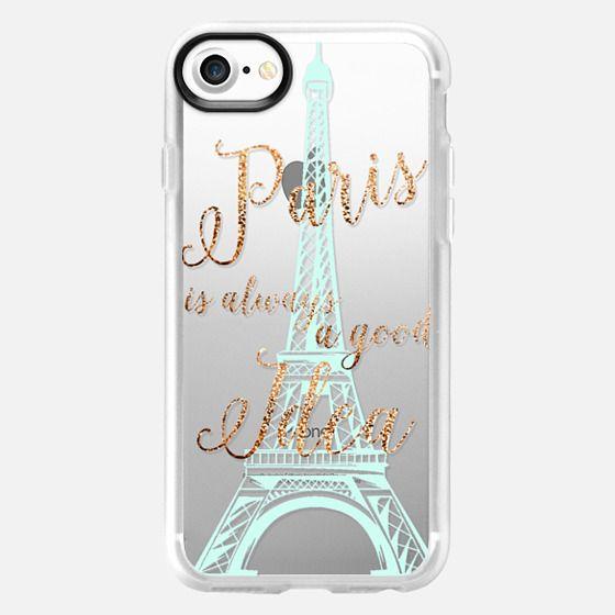 I LOVE PARIS   by Monika Strigel  Faux Glitter - Classic Grip Case