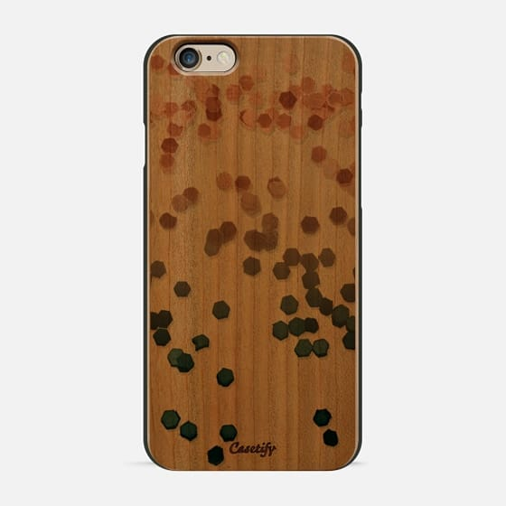 LIMITED EDITION ROSE TO TEAL FAUX GLITTER by Monika Strigel (not real glitter) iPhone 6 Plus -