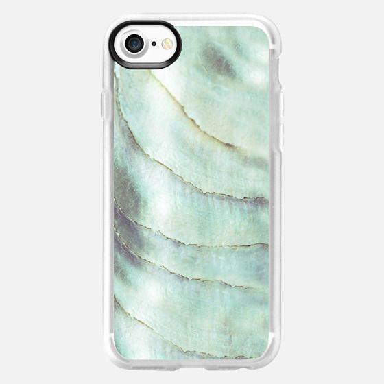 IRISDISCENT SEASHELL SEAGREEN by Monika Strigel iPhone7 -