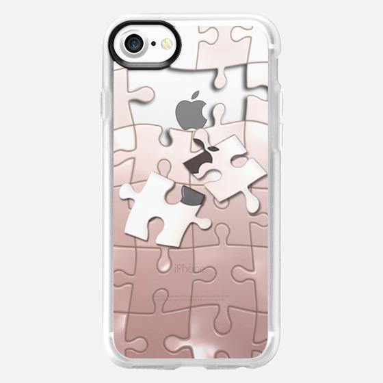 rose gold puzzle - Wallet Case