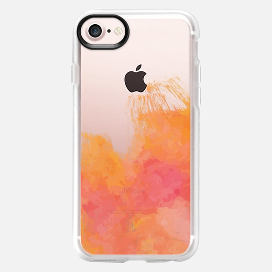 Pink and Orange Watercolor - Wallet Case