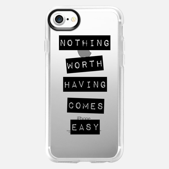 Nothing Worth Having Comes Easy - Wallet Case