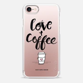 iPhone 7 Case Love and Coffee