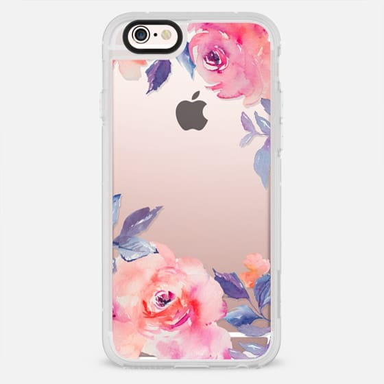 Cute Watercolor Flowers Purples + Blues -