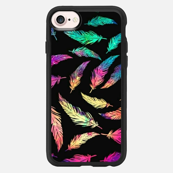 neon feathers - Classic Grip Case