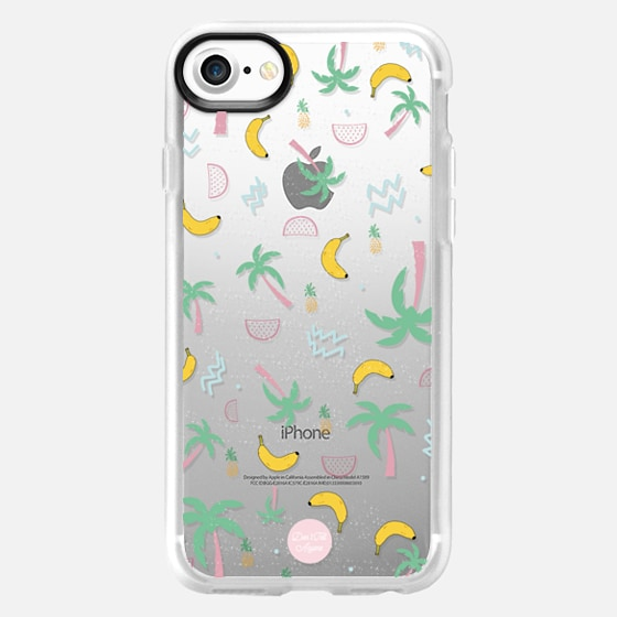 Tropic Doodle - transparent iPhone case - Wallet Case