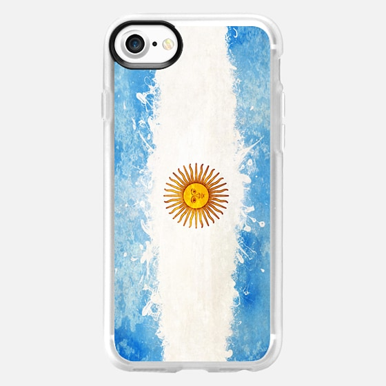 Argentina flag spatter -