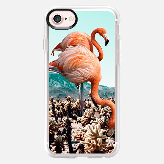 Flamingos In The Desert iPhone and iPod Case - Wallet Case