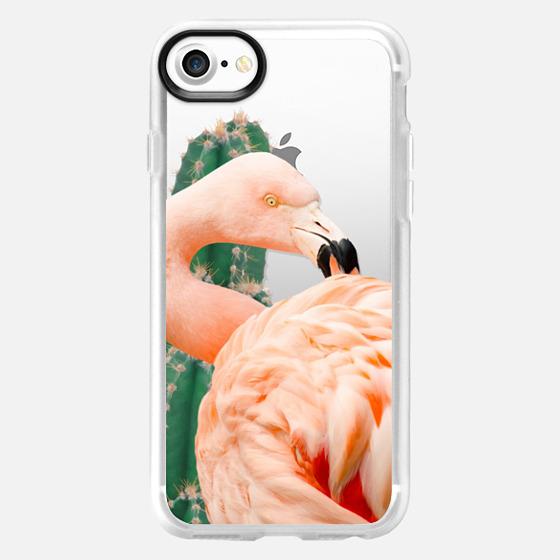 Flamingo & Cactus iphone and ipod case - Classic Grip Case