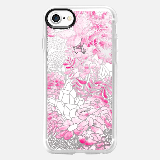 PINK Watercolor Bouquet - Breast Cancer Awareness - Wallet Case