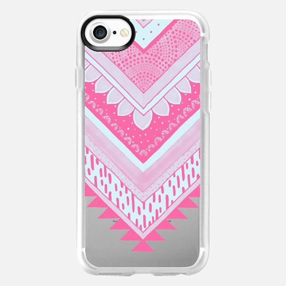 PINK Tribal Chevron - Breast Cancer Awareness - Classic Snap - Wallet Case