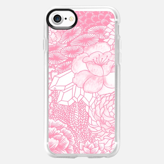 PINK Watercolor Floral - Breast Cancer Awareness - Classic Snap - Wallet Case