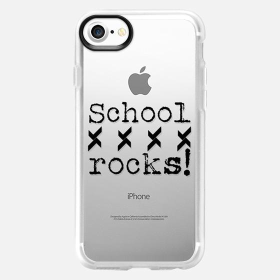 School Rocks in BW - Back to school - Wallet Case